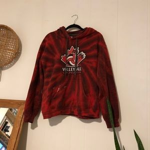 Tie dye volleyball Canada sweater